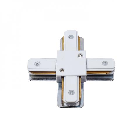 UBX-Q122 G41 WHITE 1 POLYBAG Соединитель для шинопроводов типа G, Х-образный. Однофазный. Белый. ТМ Volpe.