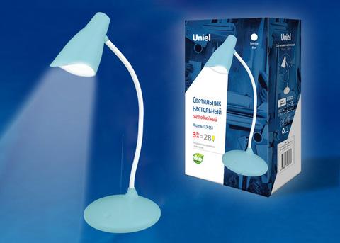 TLD-559 Blue/LED/280Lm/5000K/Dimmer Светильник настольный, 3W. Сенсорный выключатель. Голубой. ТМ Uniel