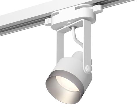 Комплект трекового однофазного светильника XT6601043 WH/MCH белый/хром матовый MR16 GU10 (C6601, N6133)