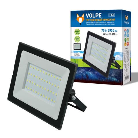 ULF-Q513 70W/6500K IP65 220-240В BLACK Прожектор светодиодный. Дневной свет(6500К). Корпус черный. TM Volpe.