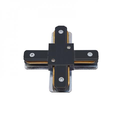 UBX-Q122 G41 BLACK 1 POLYBAG Соединитель для шинопроводов типа G, Х-образный. Однофазный. Черный. ТМ Volpe.