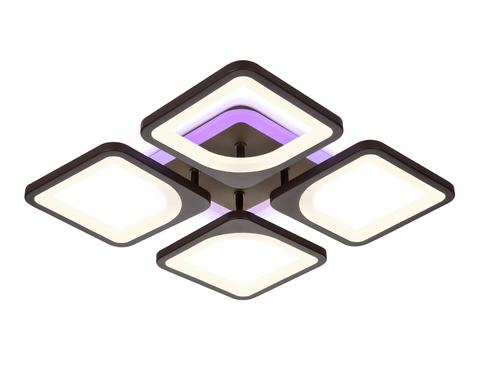 Потолочный светодиодный светильник с пультом FA442/4 CF кофе 78W 520*520*80 (ПДУ РАДИО 2.4G)