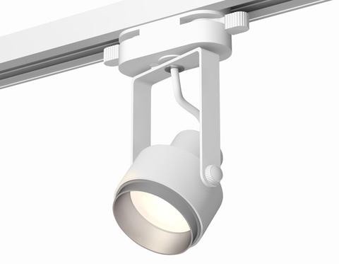 Комплект трекового однофазного светильника XT6601022 WH/MCH белый/хром матовый MR16 GU10 (C6601, N6123)