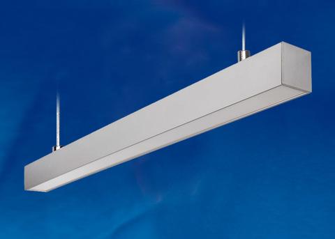 ULO-K10D 60W/5000K/L120 IP65 SILVER Светильник линейный светодиодный подвесной. Белый свет (5000К). 5600Лм. Алюминий. Цвет серебро. TM Uniel