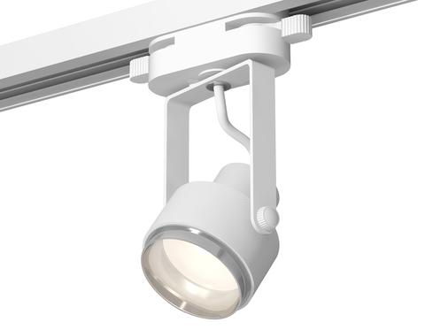 Комплект трекового однофазного светильника XT6601021 WH/PSL белый/серебро полированное MR16 GU10 (C6601, N6122)