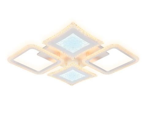 Потолочный светодиодный светильник с пультом FA430/4 WH белый 112W 750*670*80  (ПДУ РАДИО 2.4G)
