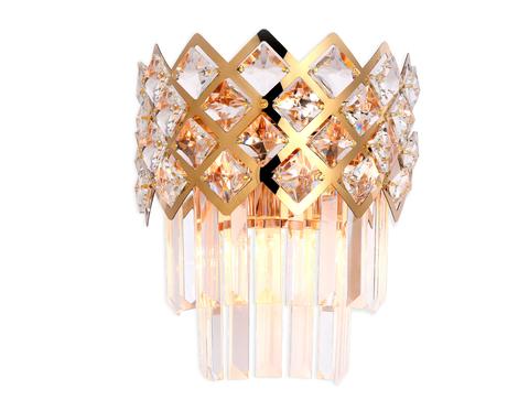 Настенный светильник с хрусталем TR5284/2 GD/CL золото/прозрачный E14/2 max 40W 280*220*150