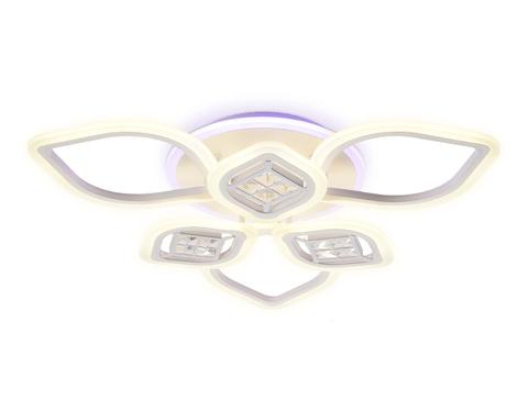 Потолочный светодиодный светильник с пультом FA282/3+3 WH белый 116W 660*600*120 (ПДУ РАДИО 2.4G)