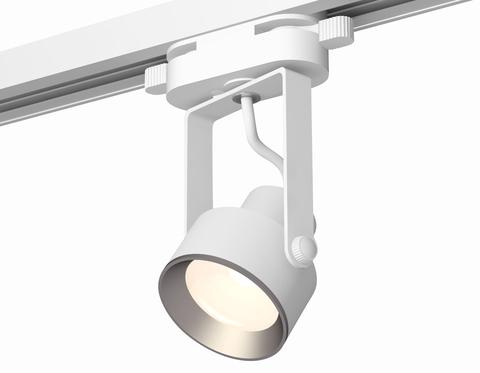 Комплект трекового однофазного светильника XT6601002 WH/PSL белый/серебро полированное MR16 GU10 (C6601, N6104)