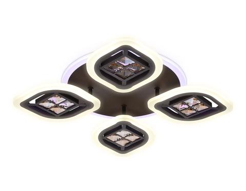 Потолочный светодиодный светильник с пультом FA281/4 CF/TI кофе/янтарь 69W 530*530*80(ПДУ РАДИО 2.4G)