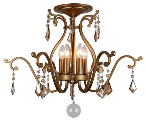 Потолочный светильник Escada Orabelle 431/6PL E14*40W D700 Antique Brass