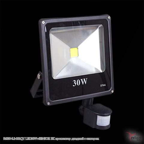 54030-0.2-001QY LED30W+SENSOR BK прожектор диодный с сенсором