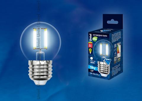 LED-G45-6W/NW/E27/CL PLS02WH Лампа светодиодная. Форма