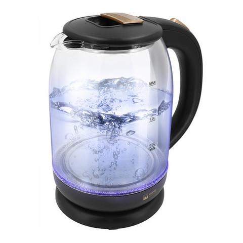 Чайник стеклянный HOME ELEMENT HE-KT191 черный жемчуг