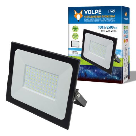ULF-Q513 100W/6500K IP65 220-240В BLACK Прожектор светодиодный. Дневной свет(6500К). Корпус черный. TM Volpe.