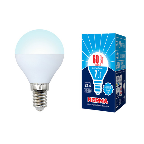 LED-G45-7W/NW/E14/FR/NR Лампа светодиодная. Форма