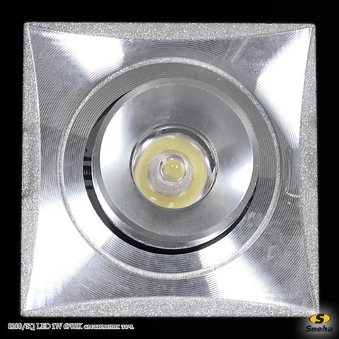 0208/SQ LED 1W 6700K светильник точ.