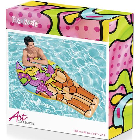 Матрас для плавания Поп-арт Мороженое, 188х95 см, Bestway 43185