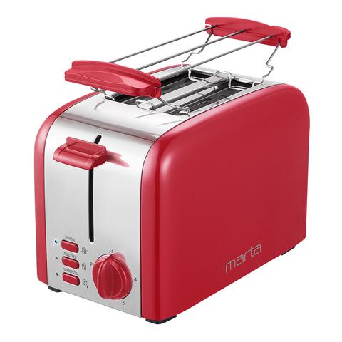 Тостер MARTA MT-1722 красный рубин