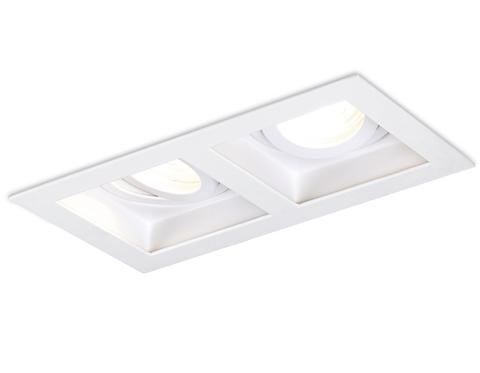 Встраиваемый поворотный точечный светильник TN185/2 WH белый GU5.3 185*100*40