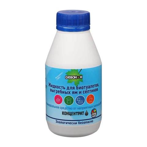 Жидкость Девон-Н для биотуалетов, выгребных ям и септиков, 0,25л.