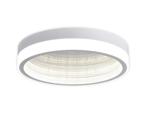 Потолочный светодиодный светильник с пультом FA9431 WH белый 90W D500*90 (ПДУ РАДИО 2.4)