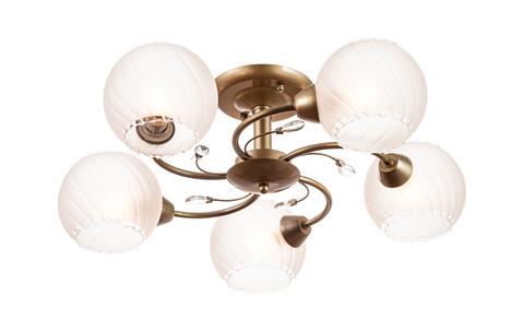 Потолочный светильник Escada 1111/5 E14*40W Antique brass