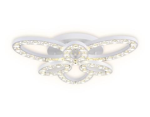 Потолочный светодиодный светильник с пультом FA159 WH/CH белый/хром 122W D700*110 (ПДУ РАДИО 2.4)
