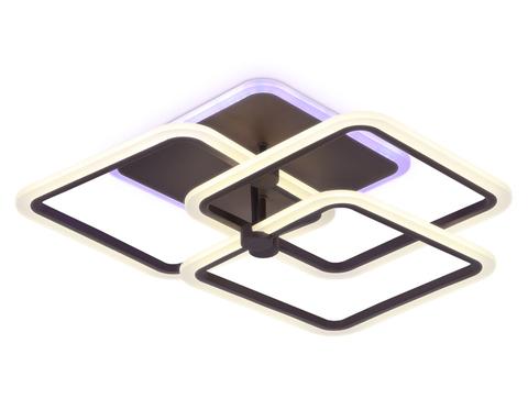 Потолочный светодиодный светильник с пультом FA535/3 CF кофе 118W 510*510*140 (ПДУ РАДИО 2.4)
