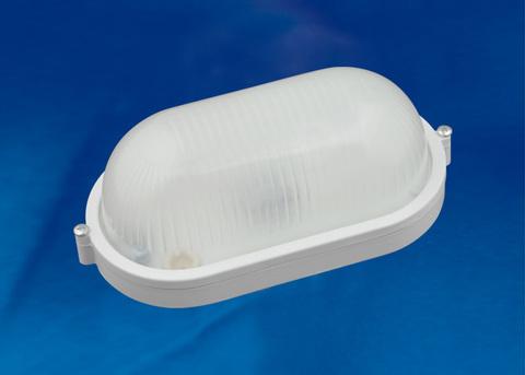 ULW-K23A 8W/6000K IP54 WHITE Светильник светодиодный влагозащищенный. Овал. Дневной белый свет (6000K). 600Лм. 210х105х80  мм. Корпус белый. ТМ Uniel.