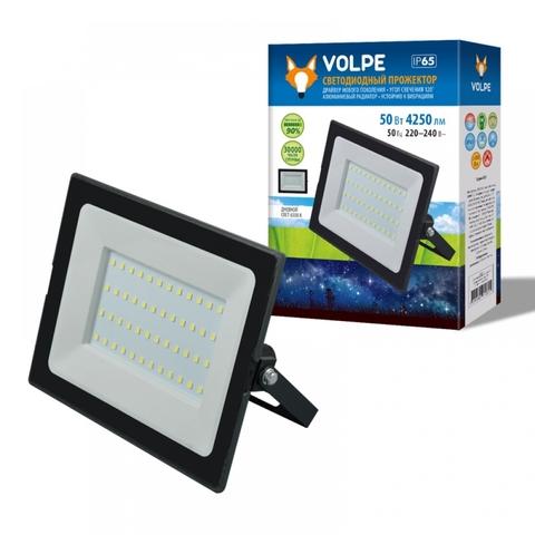 ULF-Q513 50W/3000K IP65 220-240В BLACK Прожектор светодиодный. Теплый белый свет (3000К). Корпус черный. TM Volpe.