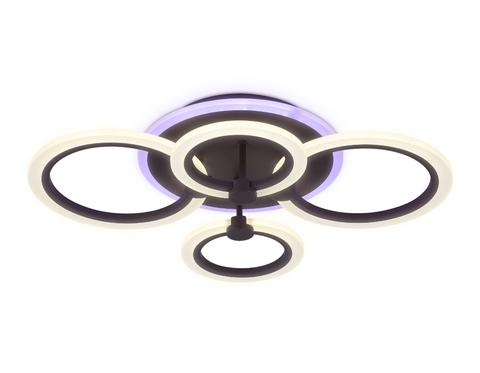 Потолочный светодиодный светильник с пультом FA526/4 CF кофе 81W 620*440*120 (ПДУ РАДИО 2.4)
