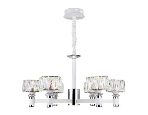 Подвесная светодиодная люстра TR4518/6 WH/CH белый/хром 120W D730*370 (Без ПДУ)