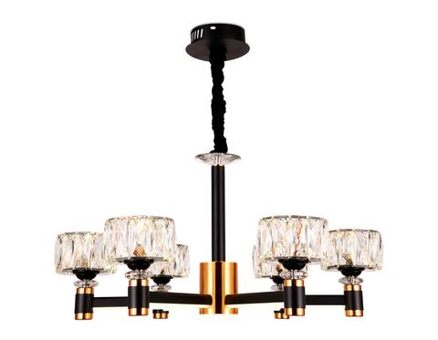 Подвесная светодиодная люстра TR4516/6 BK/GD черный/золото 120W D730*370 (Без ПДУ)