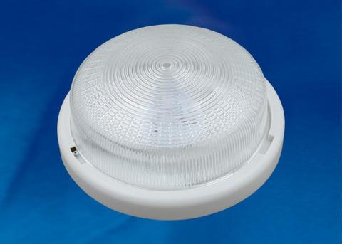 ULO-K05A 6W/6000K/R24 IP44 WHITE/GLASS Светильник светодиодный накладной. Дневной белый свет (6000K). 600Лм. Диаметр 240мм. Корпус белый. ТМ Uniel.
