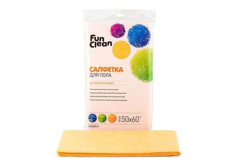Салфетка сухая из вискозы Fun Clean для пола /50*60см/, 1шт.