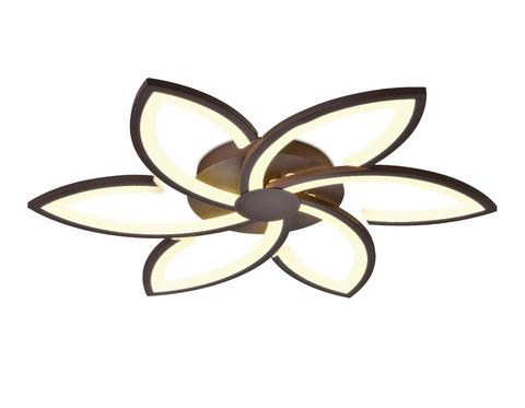 Потолочный светодиодный светильник с пультом FA447/6 CF кофе 108W 730*700*60 (ПДУ РАДИО 2.4)