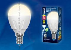 LED-G45-7W/WW/E14/FR PLP01WH Лампа светодиодная. Форма