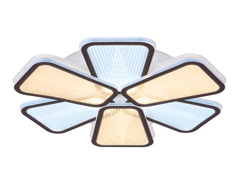 Потолочный светодиодный светильник с пультом AK4322/6 CF кофе 117W 520*510*80 (ПДУ РАДИО 2.4)