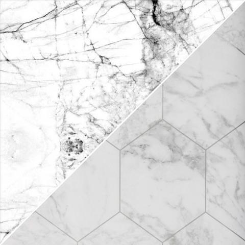 Пленка самоклеящаяся 0,45х2м, мрамор серо-белый