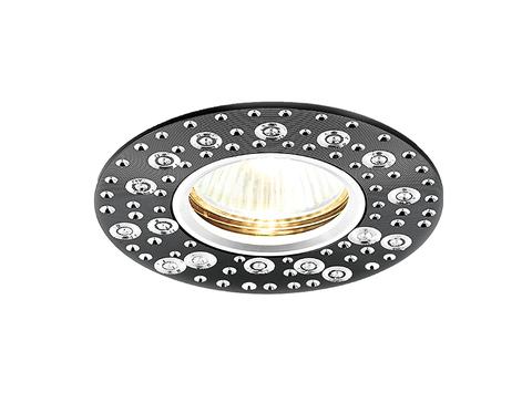 Встраиваемый потолочный точечный светильник A801 BK/AL сатин/черный MR16