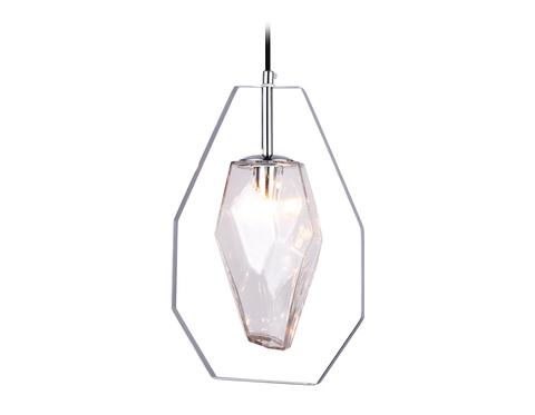 Подвесной светильник со сменной лампой TR3626 CH/CL хром/матовый G9 max 40W D200*1100