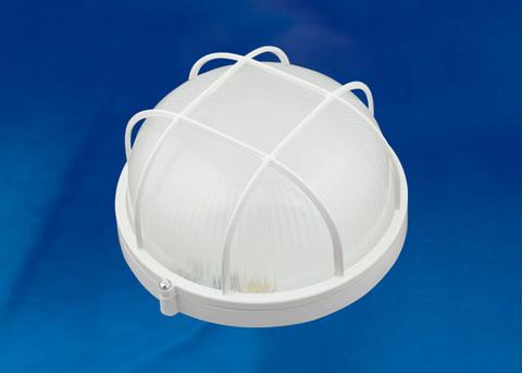 ULW-K22A 8W/6000K IP54 WHITE Светильник светодиодный влагозащищенный. Круг с решеткой. Дневной белый свет (6000K). 600Лм. Диаметр 188мм. Корпус белый. ТМ Uniel.