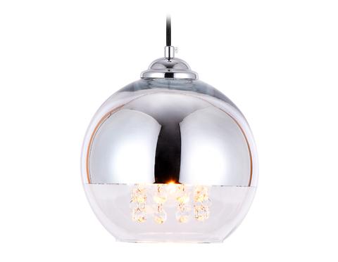 Подвесной светильник со сменной лампой TR3601 CH/CL хром/прозрачный E27 max 40W D200*1000
