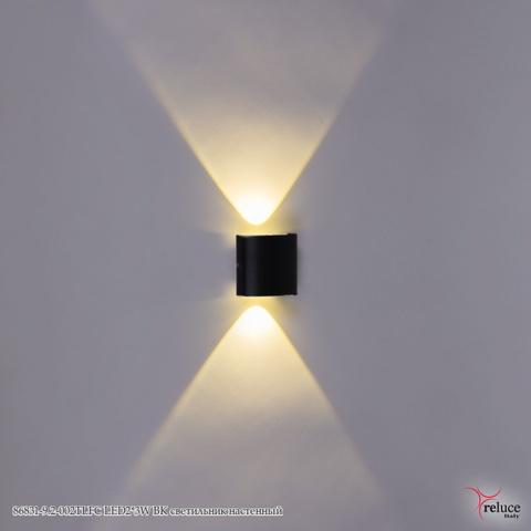 86831-9.2-002TLFC LED2*3W BK светильник настенный