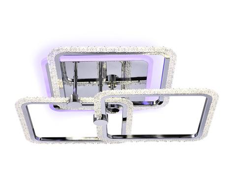 Потолочный светодиодный светильник с пультом FA536/3 CH хром 118W 510*510*150 (ПДУ РАДИО 2.4G)