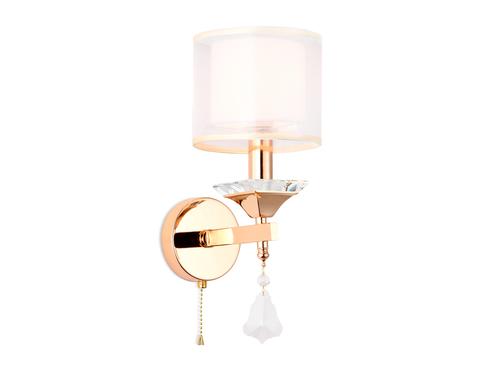 Настенный светильник с хрусталем TR4543 GD/WH золото/белый E14 max 40W 340*150*200