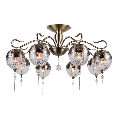 Потолочный светильник FABERGE 8xE14x40W 594/8PL ан бр ESCADA